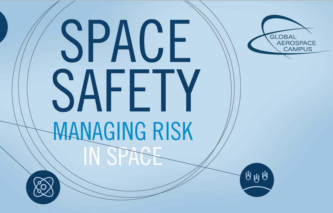 "Poster des Online-Kurses ""Space Safety"" von Munich Aerospace"