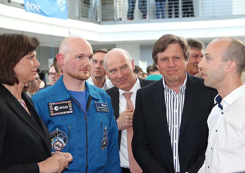 Astronautische Grüße bei Forum Munich Aerospace