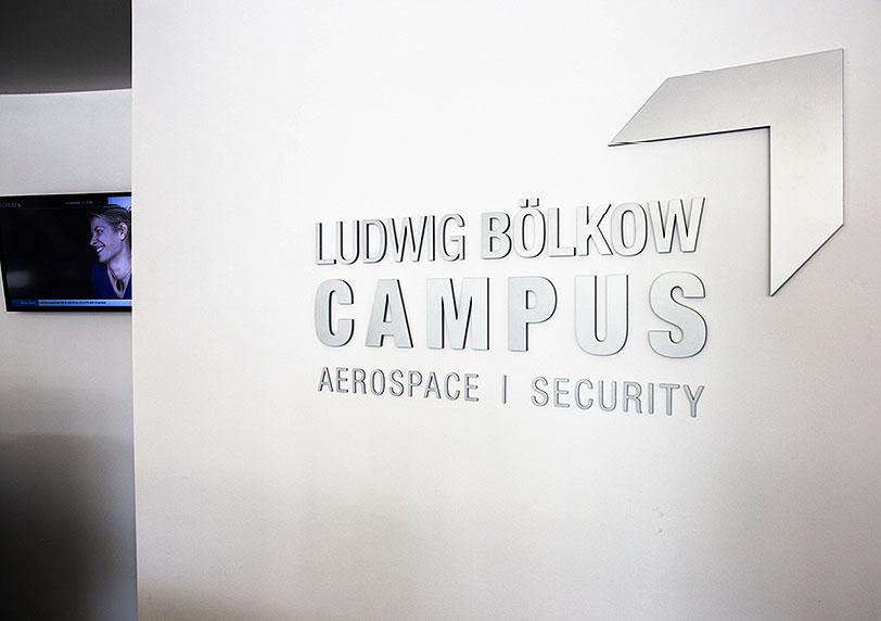 Empfangsbereich des Ludwig Bölkow Campus
